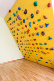 Small yellow climbing wall Stock Photos