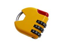 Small yellow digital lock Stock Photos