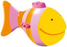 Small yellow fish toy Royalty Free Stock Image