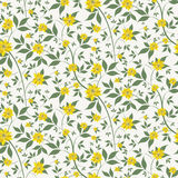 Small yellow flowers seamless background Royalty Free Stock Image