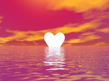 Love sunset - 3D render Stock Photos