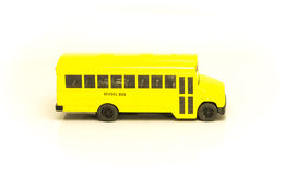 Small yellow machine cartoon school bus Royalty Free Stock Photos