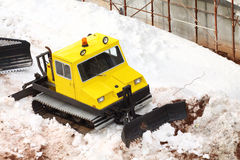 Small parked snowcat Stock Photos