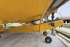 Small yellow private airplane Royalty Free Stock Images