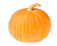 Small yellow pumpkin isolated on white Stock Photography