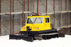 Small yellow snowcat Stock Image