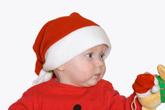 Small young girl in holy Nicolaus cap Stock Photography