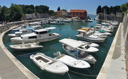 Small Zadar port Stock Image