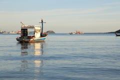 Smallboat. Sea  sunset thailand asia Royalty Free Stock Photo