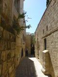 Smalle Arabische oude straten in Jaffa stock foto