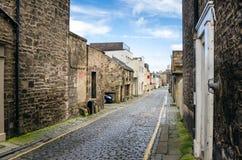 Smalle Cobbled-Straat stock afbeelding