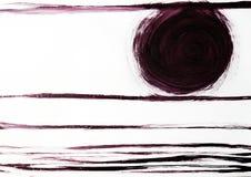 Smalle die lijnen door het volledige formaat en de cirkel worden getrokken Prachtige orde met perspectief en harmonie stock illustratie