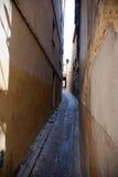 Smalle Middeleeuwse straat Stock Foto