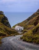 Smalle Oprijlaan - Cornwall Stock Foto