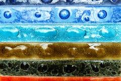 Smalle rechthoekige stroken van artistiek glas Stock Foto