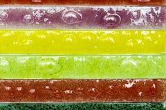 Smalle rechthoekige stroken van artistiek glas Stock Afbeeldingen