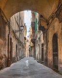 Smalle steeg in Pisa, Toscanië, Italië Stock Foto