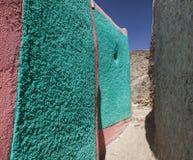 Smalle steeg van oude stad van Jugol Harar ethiopië Royalty-vrije Stock Afbeelding