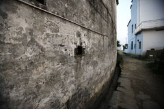 Smalle straat Stock Foto's