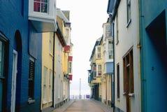 Smalle straat in Cromer royalty-vrije stock foto's