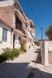 Smalle straat in de stad van Zakynthos royalty-vrije stock fotografie