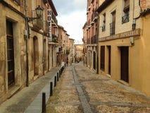 Smalle Straat in Lerma Spanje Royalty-vrije Stock Afbeelding
