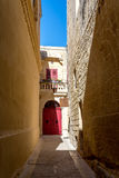 Smalle straat in Malta Royalty-vrije Stock Afbeelding