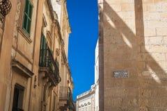 Smalle straat in Mdina, Malta Royalty-vrije Stock Fotografie