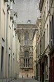 Smalle straat in Mijnheer België stock foto's