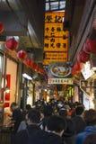 Smalle straat in Moeras Jiu Stock Foto