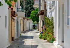 Smalle straat in oud dorp Royalty-vrije Stock Afbeeldingen