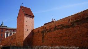 Smalle straat in oud Riga - hoofdstad van Letland, Europa royalty-vrije stock afbeelding