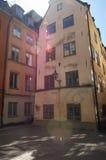 Smalle straat in oude stad Stock Fotografie
