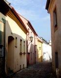 Smalle straat in Trebic Stock Fotografie