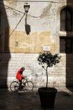 Smalle straten van de oude stad stock afbeelding