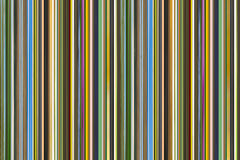 Smalle verticale lijnen vele groenachtig blauwe bruine patroon herhaalde streepjescodeachtergrond Royalty-vrije Stock Afbeelding