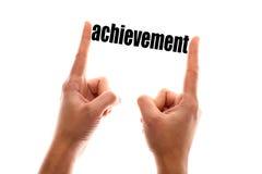Smaller achievement concept Stock Images