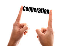 Smaller cooperation concept Stock Image