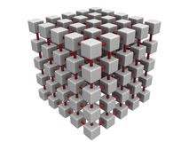 Smaller cube mesh Stock Images