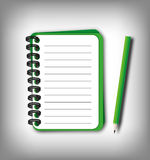 Smaller green notebook Stock Images