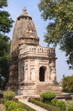 Smaller Hindu temple at Eastern site in India's Khajuraho. Royalty Free Stock Photography