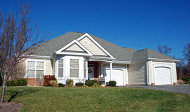 Smaller Home in Retirement 1. Large one level home for active seniors. Example of scaling back after retirement Stock Photography