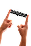 Smaller management concept Stock Image