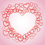Smaller outline hearts Royalty Free Stock Images