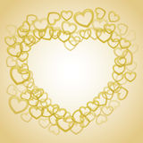 Smaller outline hearts Stock Image