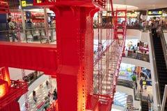 A smaller replicate of the Golden Gate Bridge at Terminal 21 Pattaya stock photo