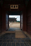 Side Entrance Door Courtyard Gyeongbokgung Palace Royalty Free Stock Photos