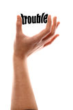 Smaller trouble Stock Image