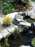 Smaller water garden ponds Royalty Free Stock Images