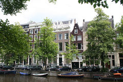 Smaller and wider houses on the Keizersgracht, Royalty Free Stock Image